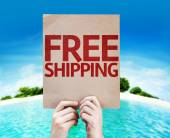 Free Shipping card — Stock Photo