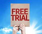Free Trial card — Stock Photo