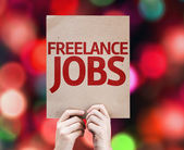 Freelance Jobs card — Stock Photo