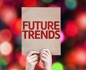 Future Trends card — Stock Photo