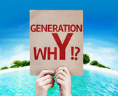 Generation whY !? card — Stock Photo