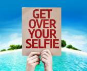 Get Over Your Selfie card — Stock Photo