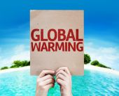 Global Warming card — Stock Photo