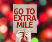 Go To Extra Mile card — 图库照片