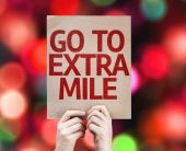 Go To Extra Mile card — Stockfoto