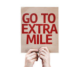 Go To Extra Mile card — Stock Photo