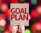 Goal Plan card — Stock Photo