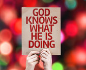 God Knows What He is Doing card — Zdjęcie stockowe