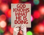 God Knows What He is Doing card — Stock Photo