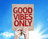 Good Vibes Only card — Stock Photo
