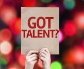 Got Talent? card — Stock Photo