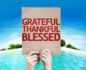Grateful Thankful Blessed card — Stock Photo