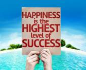 Happiness is the Highest Level Of Success card — Stock Photo
