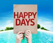 Happy Days card — Stock Photo