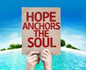Hope Anchors the Soul card — Stock Photo