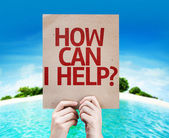 How Can I Help? card — Foto Stock