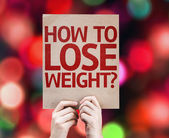 How To Lose Weight? card — Stock Photo