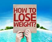 How To Lose Weight? card — Foto de Stock