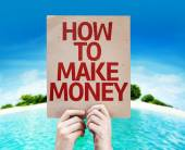 How To Make Money card — Stock Photo