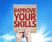 Improve Your Skills card — Stock Photo