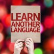 Learn Another Language card — Stock Photo #63170143