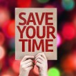 Save Your Time card — Stock fotografie #63171657