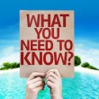 What You Need to Know? card — Stock Photo #63173661
