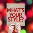 What's Your Style? card — ストック写真 #63173831