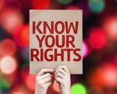 Know Your Rights card — Stock Photo