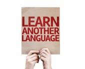 Learn Another Language card — Stock Photo