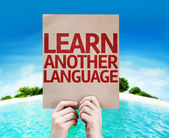 Learn Another Language card — Stok fotoğraf