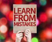 Learn From Mistakes card — Stok fotoğraf
