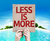 Less Is More card — Stock Photo
