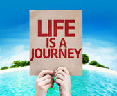 Life is a Journey card — Stock Photo