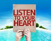 Listen To Your Heart card — Stock Photo