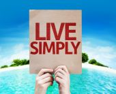 Live Simply card — Stock Photo