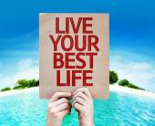 Live Your Best Life card — Stock Photo