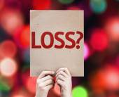 Loss? card with colorful background — Stock Photo
