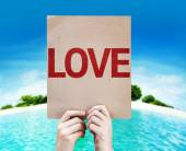 Love text on card — Stock Photo