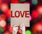 Love text on card — Foto Stock