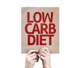 Low Carb Diet card — Stock Photo