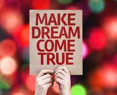 Make Dream Come True card — Stock Photo