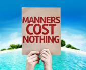Manners Cost Nothing card — Stock Photo