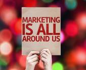 Marketing is All Around Us card — Stock Photo