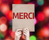 Thank You (In French) card — Stock Photo