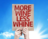 More Wine Less Whine card — Stock Photo