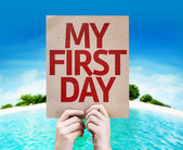 My First Day card — Stock Photo