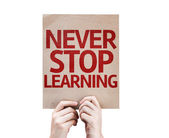 Never Stop Learning card — Stock Photo
