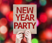 New Year Party card — Stock Photo
