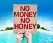 No Money No Honey card — Stock Photo